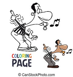 referee cartoon coloring page