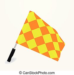 Referee flag. vector illustration