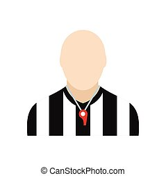 Referee flat icon isolated on white background