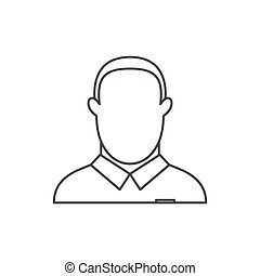 Referee icon, outline style