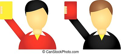 referee icons isolated over white background vector