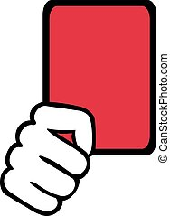 Referee Red Card Hand Soccer