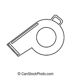 referee whistle american football icon outline