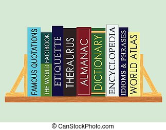 Reference Books (Vector) - An illustration of important ...