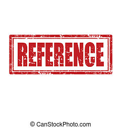 Reference-stamp - Grunge rubber stamp with word...