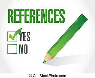 references check list sign concept illustration design ...