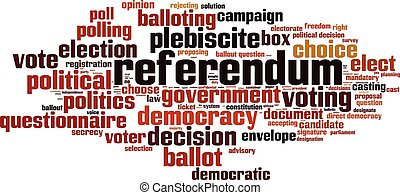 Referendum-horizon - Referendum word cloud concept. Vector ...