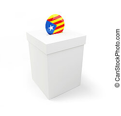 referendum in Catalonia on a white background 3D illustration, 3D rendering