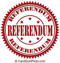 Referendum-stamp - Rubber stamp with text Referendum, vector...