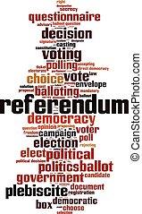 Referendum-vertical - Referendum word cloud concept. Vector ...
