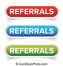 Referral button bubble set