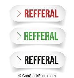 Referral button bubble set