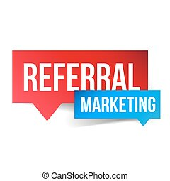 Referral Marketing vector speech bubble