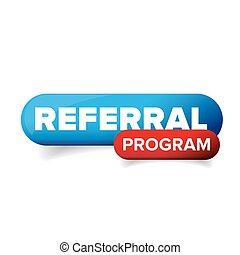 Referral program button vector isolated