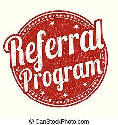 Referral program grunge rubber stamp