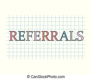 referrals concept- vector illustration