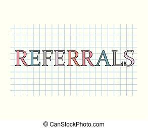 referrals concept- vector illustration