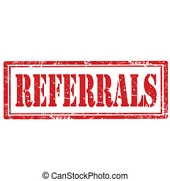 Referrals-stamp - Grunge rubber stamp with text...