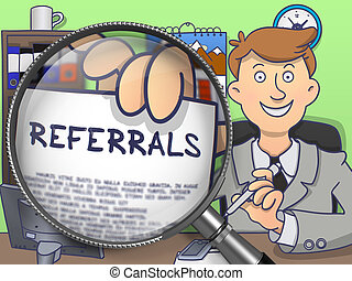 Referrals through Magnifier. Doodle Style.