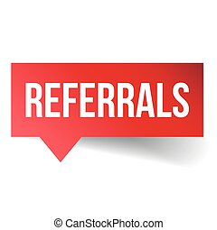 Referrals vector speech bubble
