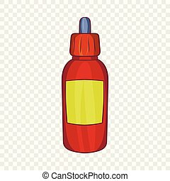 Refill bottle with pipette icon, cartoon style