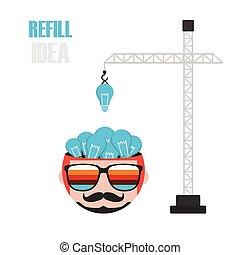 refill the idea - crane fill light bulb to head, increase...