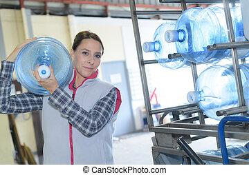 refilling water bottles