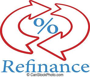 Refinance home mortgage loan icon symbol - Refinance home...