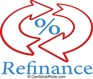 Refinance home mortgage loan icon symbol - Refinance home ...