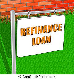 refinance, kölcsönad, látszik, jogosság, jelzálog, 3, ábra