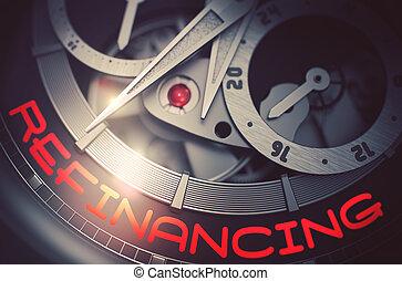 refinancing, relógio, mechanism., pulso, 3d., automático