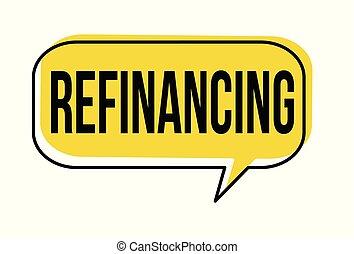 Refinancing speech bubble