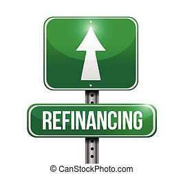refinancing street sign illustration design