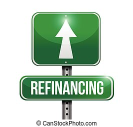 refinancing street sign illustration design