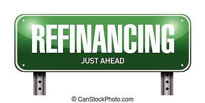 refinancing street sign