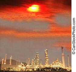 refinaria óleo, planta