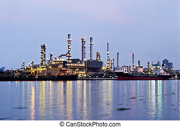 refinaria óleo, planta industrial