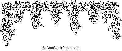 Refined Floral vignette