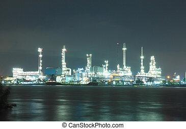 refinería de petróleo, área, planta