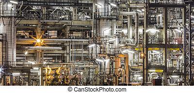 refinería de petróleo, planta
