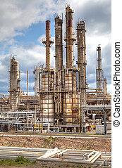 refinería, industria, producto petroquímico, aceite