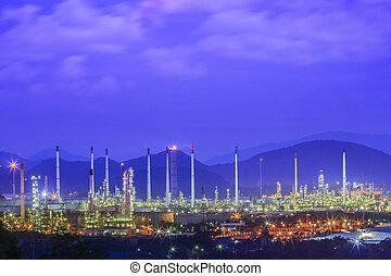 refinería, industrial