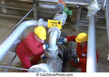 refinería, producto petroquímico