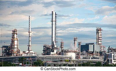 refinería, tailandia, aceite, fábrica