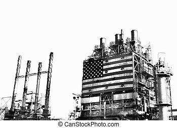 refinería, vectorized, complejo