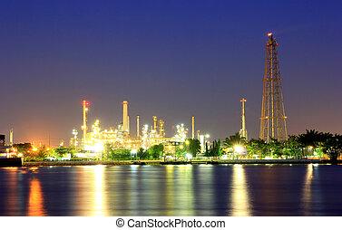 refineries., aceite, costero