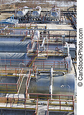Refinery center - Oil refinery center in West Siberia