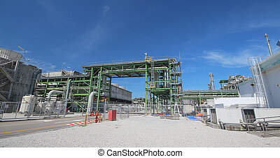 Refinery Industrial plant with blue sky