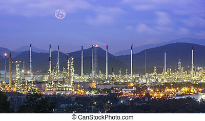 Refinery industrial plant