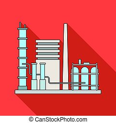 Refinery. Oil single icon in flat style vector symbol stock illustration web.